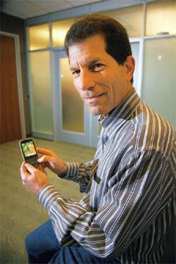Track record: Palm chief and former head of Apple's iPod unit Jon Rubinstein believes Palm doesn't need to be as big as its rivals to thrive. Jim Wilson / NYT