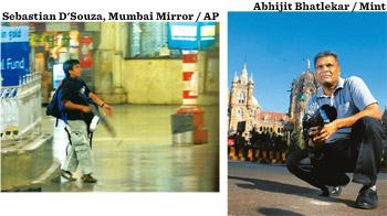 Iconic image: Sebastian D'Souza's photo of Ajmal Kasab at Mumbai's Chhatrapati Shivaji Terminus got a special mention in the Spot News category at the World Press Photo award; and (right) D'Souza.