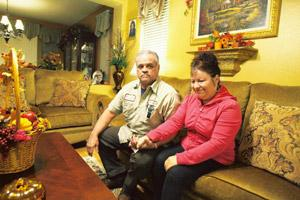 Got lucky: Steven and Marisela Alva were grateful for new loan terms on their home in California. J. Emilio Flores / NYT