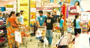 Merger possibilities: A file photo of a Big Bazaar store in Noida. Separating Big Bazaar will appeal to foreign retailers such as Carrefour SA for a possible tie-up. Mint