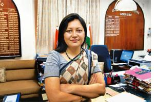 Quick relief: Mumbai collector Idzes Kundan in her office. The Mumbai collectorate was able to compensate all 396 eligible families within two months, largely due to Kundan's efforts in the aftermath