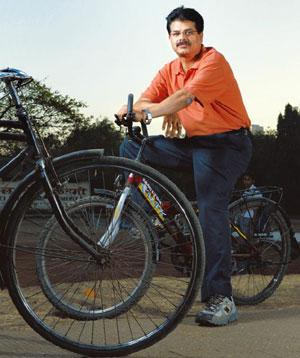 Cycling through: V. Ramesh, founder-CEO of Ecomove Solutions. Abhijit Bhatlekar / Mint