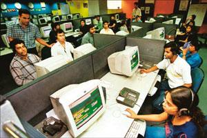 Cost savings: Indian IT firms provide services ranging from managing complex networks, call centres to software coding. The market is hoping the next fiscal will be much better growth-wise than this y