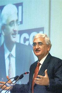 Filling gaps: Corporate affairs minister Salman Khursheed says the Centre is also looking to fill the seven vacant positions on the board. PTI