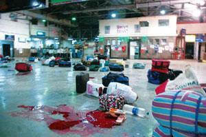 Gruesome act: A file photo of Mumbai's Chhatrapati Shivaji Terminus in the aftermath of the 26/11 terror attack. Lashkar-e-Taiba has been blamed for the attack, in which 166 people were killed. PTI