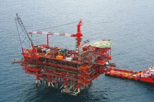 In the hotbed: A file photo of Reliance Industries' drilling rig at the D6 block in the Krishna-Godavari basin.