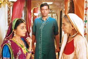 Popular show: A scene from Colors television serial Balika Vadhu, among the top five programmes in the Hindi entertainment genre.