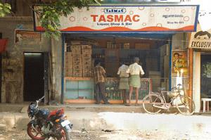Contact points: A liquor shop and bar in Chennai. Such places in Tamil Nadu often work as intervention sites to disseminate awareness about HIV/AIDS and induce behavioural change among high-risk grou