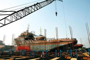 Takeover battle: A shipbuilding yard of ABG Shipyard, India's biggest private shipbuilder, in Surat. Ashesh Shah/Mint