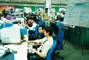 Sweet spot: IT industry body Nasscom estimates that Indian IT firms earned $50 billion in 2009, with a little more than 17% of that, or $8.5 billion, coming from the UK market. Madhu Kapparath / Mint