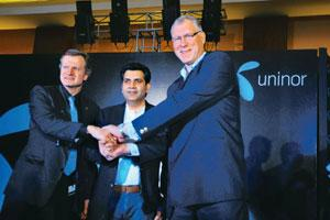 Reaching out: Unitech Wireless MD Stein-Erik Vellan (right). Pankej Kumar/Mint