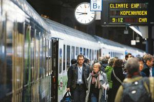 Environment central: People boarding the Climate Express train to Copenhagen from Brussels on 5 December. The Indian delegation comprises 26 officials, four members of Parliament, four children and Ja