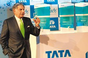 Clean technology: Tata group chairman Ratan Tata at the launch of Tata Swach water purifier in Mumbai. At about 2ft tall, Swach is the result of a four year quest that involved several Tata group comp