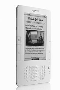 At your fingertips: Surf news on the go with the Kindle.