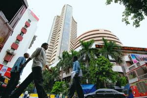 Going strong: A file photo of the Bombay Stock Exchange (BSE). MD and CEO Kannan says only 7-8% of BSE's shares are currently available for sale and that it won't take long for the bourse to list its