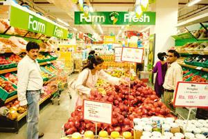 Basic commodities: A file photo of people shopping at a Big Bazaar outlet in Noida. Consumers are increasing the basket of items they track as part of their ongoing search for the best deal. Harikrish