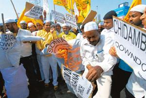 Inflamed passions: Activists of the Telugu Desam Party burnt effigies of senior Congress leaders during a protest on 12 December. The southern state has been roiled by protests and counter-protests s