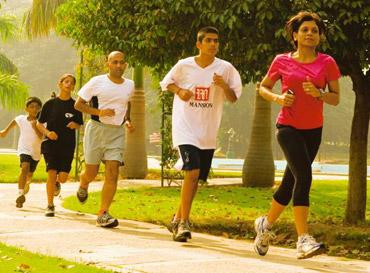 Group activity: A friendly race in a Gurgaon park. Ramesh Pathania / Mint