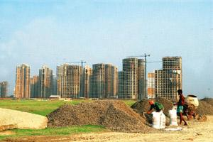 Seeking support: A file photo of a residential complex site in New Town, Rajarhat. Indranil Bhoumik / Mint