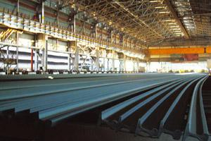 Capacity hurdle: Steel Authority of India's rail mill at the Bhilai steel plant in Chhattisgarh. The expansion plan for the plant has been reviewed and shelved, a spokesman for the company said. Maitr