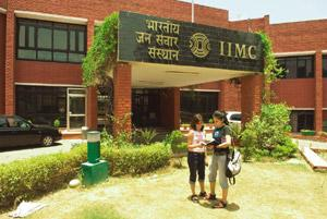 Wider reach: A file photo of students at IIMC, New Delhi. The enhanced status will let the institute offer bachelor's and postgraduate degrees instead of the postgraduate diploma it currently offers.