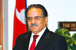 Protest Mode: Nepal's Maoist leader Prachanda says he will only talk to New Delhi and not to the 'puppet' government in Nepal. B Mathur / Reuters
