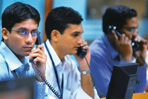 Year-end bonanza: A file photo of stock brokers. The Nifty index on the National Stock Exchange rose 3.2% to 5,144.60 points on Wednesday. Bloomberg