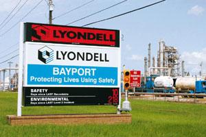 Hard times: A Lyondell Chemical Bayport Choate plant in Texas. F Carter Smith / Bloomberg