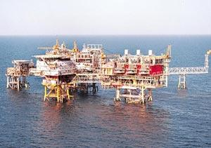 Expansion mode: A file photo of an ONGC offshore platform. Bloomberg