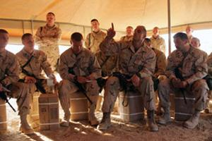 War never changes: The series follows a squad of marines in the early days of the US invasion of Iraq