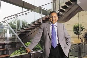 Improving environment: TCS chief executive and managing director N. Chandrasekaran says the financial services sector, which is the largest IT spender, has improved significantly. Abhijit Bhatlekar /