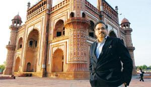 Exciting developments: Singh at the Safdarjung Tomb in New Delhi. He says passenger traffic from 'beyond the metros' has created a buzz in the industry. Ramesh Pathania / Mint