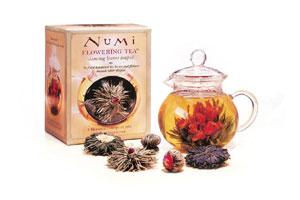 Flower Pot: The bud blooms into a beautiful flower in the tea pot. Photo courtesy: Numi Tea