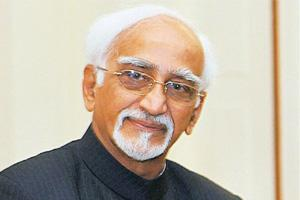 On tour: Vice-president Hamid Ansari is on a three-country visit that will take him to Zambia, Malawi and Botswana. Atul Yadav / PTI