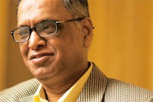 Tackling competition: Infosys chief mentor Narayana Murthy says the IT industry will have to be much more aggressive in hiring local talent. Harikrishna Katragadda / Mint