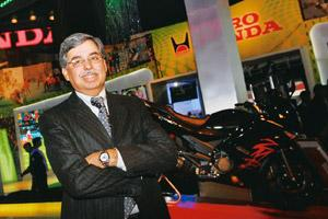 Growth momentum: Hero Honda's Munjal says there are immense possibilities in the two-wheeler market. Ramesh Pathania / Mint