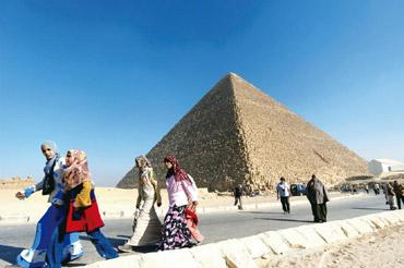 Timeless: The ancient Egyptians addressed the question of death on a grand scale. Christophe Ena / AP