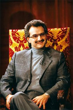 Shoring up: A file photo of Saudi prince Alwaleed bin Talal in Paris. Owen Franken / Bloomberg