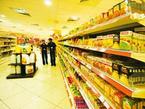 Costlier products: Spencer hypermarket, Ghaziabad. Rising prices of essential commodites such as sugar and edible oils may force firms that use these items as raw materials to increase the rates of t