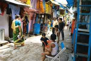 Revamping shanties: Life goes on in Mumbai's Dharavi slum. Encouraged by government support and easier norms, several developers plan to bid for a portion of the Rs15,000 crore Dharavi slum redevelop
