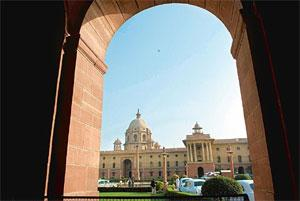 Aiming results: The South Block in New Delhi. Beginning April, all the ministries will have to set yearly targets with mid-term reviews. Ramesh Pathania / Mint
