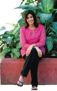 Family ties: Anand's next book will be about her father's experiences during Partition.