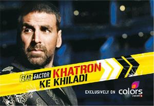Glued on: A TV grab of Khatron Ke Khiladi, a Colors reality show hosted by actor Akshay Kumar, that will soon feature some IPL players.