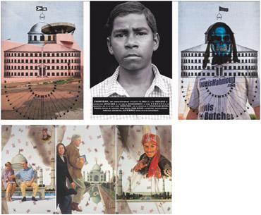 Trifectart: (above) Riyas Komu's Mr Panopticon; and Atul Dodiya's Tomb's Day.