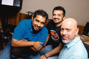 Three of a kind: (from left) Shankar Mahadevan, Ehsaan Noorani and Loy Mendonsa. Abhijit Bhatlekar/Mint