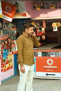 Going strong: A cellphone store in Faridabad, Haryana. Of Vodafone's 313.78 million subscribers worldwide, India accounted for 91.4 million. Rajkumar / Mint