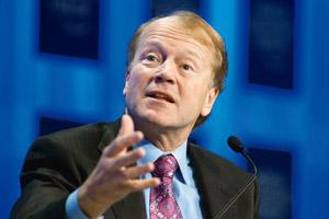 Road to recovery: Chambers says Cisco's growth was too uniform across products, geographies for it not to signal a greater shift in the economy. Chris Ratcliffe / Bloomberg