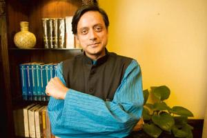 "On guard: Shashi Tharoor at the ministry of external affairs in New Delhi. Tharoor says he has to ""adjust"" his style with the realities of India and that process has taken a few blows. Harikrishna Kat"
