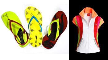 Flip-flops and T-shirt from Aki Narula's collection