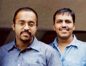 Impressed: Raghu Bhat (left) and Manish Bhatt.